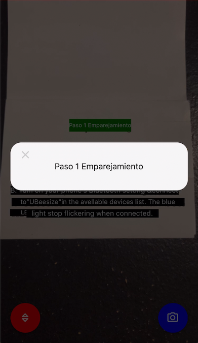 screen shot of pop-up first line translated